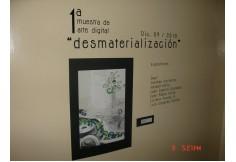 """1a. Muestra de Arte Digital ! Desmaterialziación """" en Training Tech.  Trabajos de nuestros alumnos."""
